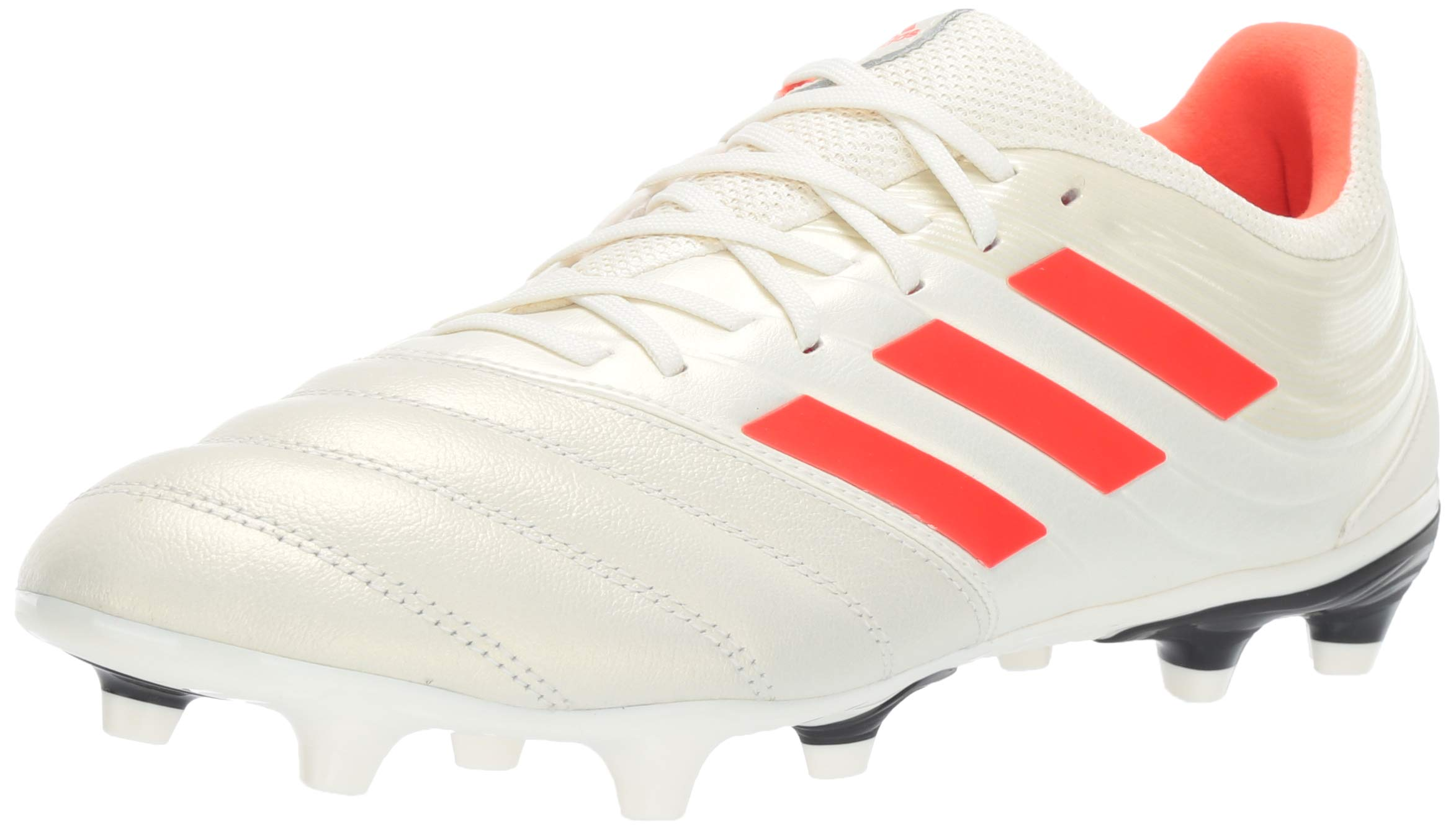 adidas Men's Copa 19.3 Firm Ground, Off Off White/Solar red/Black, 7 M US by adidas