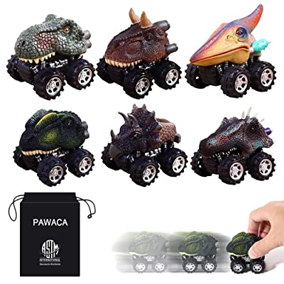 PAWACA Pull Back Dinosaur Cars, Dino Cars Toys with Big Tire Wheel for 3-14 Year Old Boys Girls Creative Gifts for Kids (6 Pack): Home & Kitchen