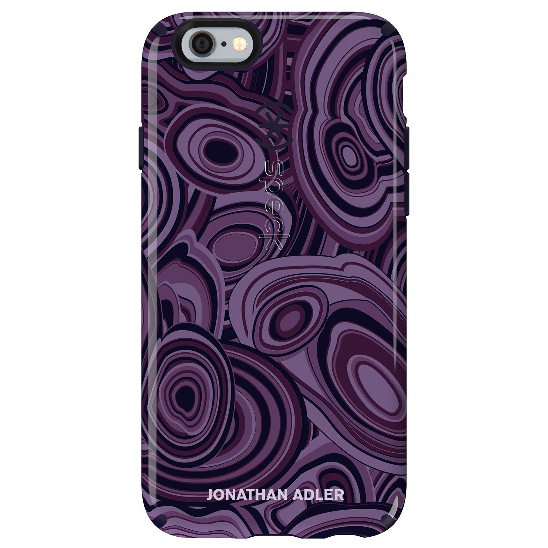 Speck Candyshell Inked Jonathan Adler Case iPhone 6 Plus 6s Plus Malachite Purple Berry Black Glossy