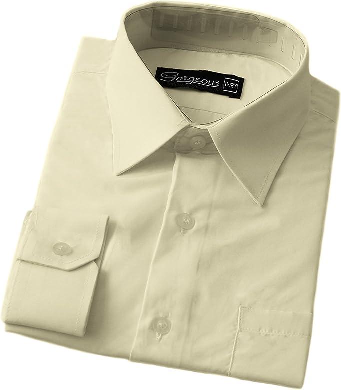 The Gorgeous 1 - Camisa de vestir para niño (6 meses - 16 años) Marfil crema 1-2 Años: Amazon.es: Ropa y accesorios