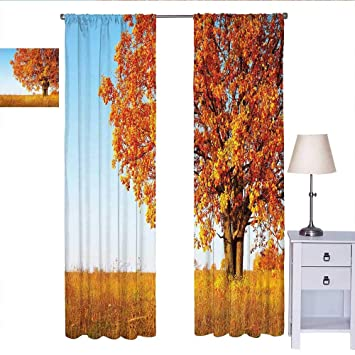 Amazon.com: MartinDecor Fall Decor Bedroom Curtains Lonely ...
