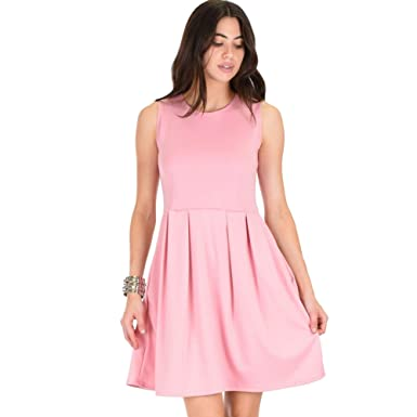 0dcf7bf65ff3 Amazon.com: Lyss Loo I'm Smitten Royal Skater Dress With Pockets ...