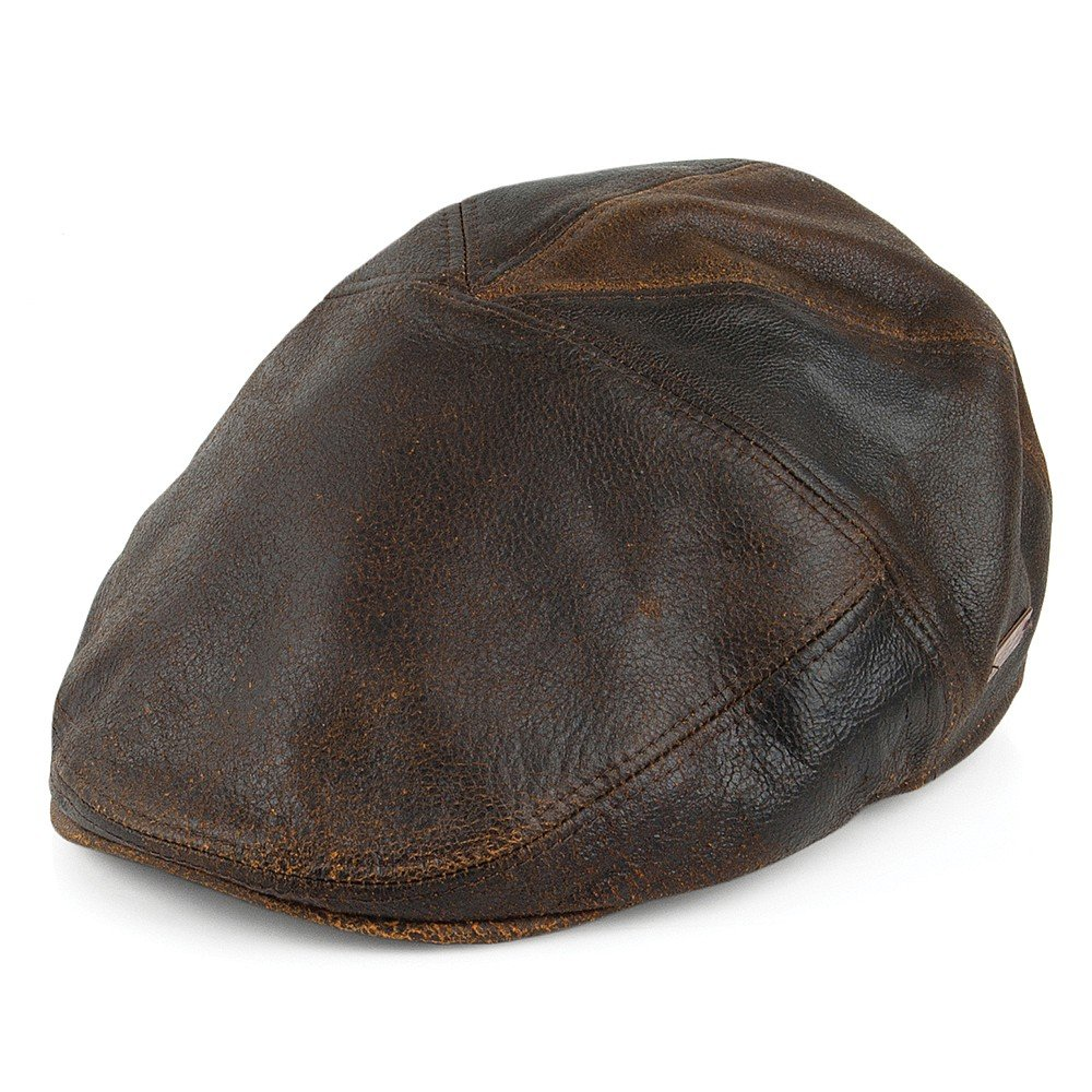Bailey Hats Taxten Leather Flat Cap - Brown