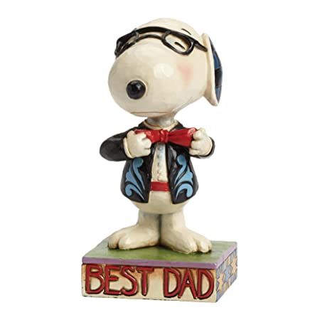 Jim Shore for Enesco Peanuts Best Dad Snoopy Figurine, 5.25