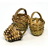 Miniature Fairy Garden Round Fruit Baskets, 3 Piece Set
