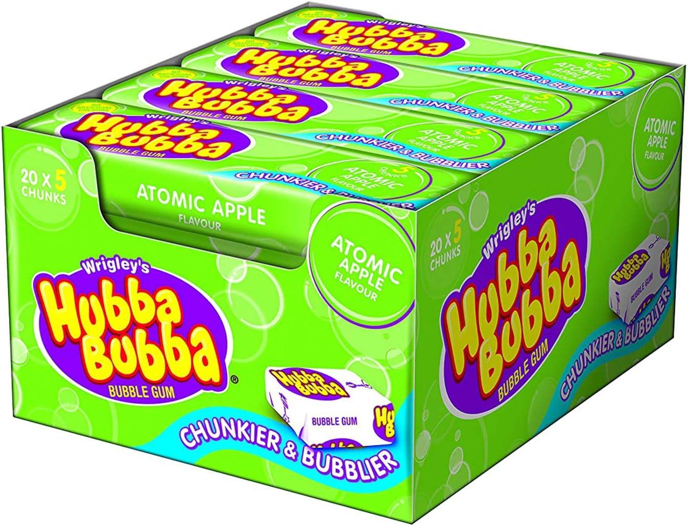 Wrigleys Chicles Hubba Bubba de Manzana, 20 Paquetes de 5 Chicles: Amazon.es: Alimentación y bebidas