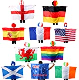 SCOTTISH FLAG - WEARABLE SCOTLAND FLAG CAPE FANCY DRESS ACCESSORY, FOR SPORTING EVENTS & NATIONAL DAYS (PACK OF 6)