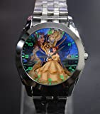 Beauty and the Beast Art 3 Silver Stainless band Watch wristwatch