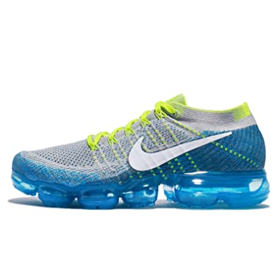 Nike Men's Air Vapormax Flyknit, Wolf Grey/White-Chlorine Blue, 9 M