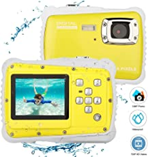 Ocamo 12MP Visualización LCD de 2 Pulgadas para Niños HD Cámara Digital submarina 3M Impermeable Cámara de Acción Videocámara