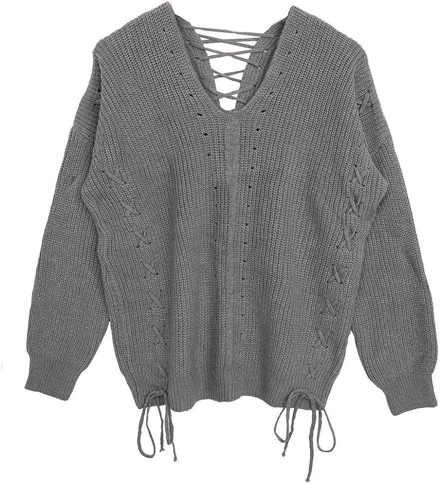 Jersey de punto lazo manga larga gris | Mode de Mujer