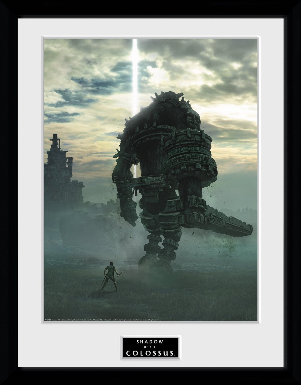 GB eye LTD, Shadow of The Colossus, Key Art, Framed Print 30x40cm, Wood, Various, 52 x 44 x 3 cm PFC2993