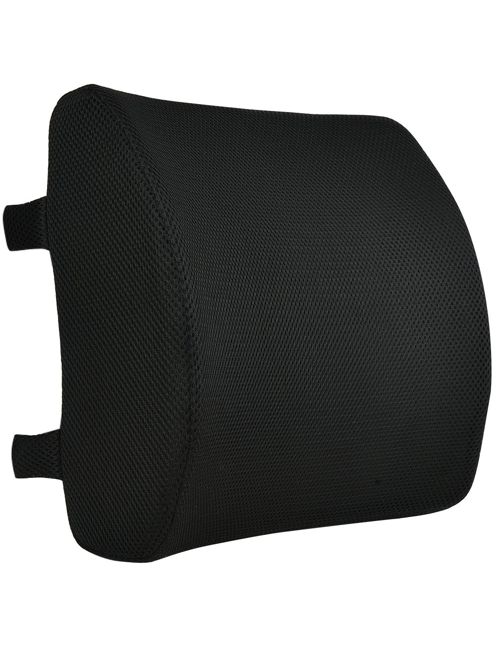 Orthopedic Memory Foam Lumbar Support Pillow for Office Chair, Car Seat, Pregnancy, Lower Back Support with Adjustable Dual Strap, Removable Mesh Cover-Portal for Women, Men Outdoor, Airplane Travel