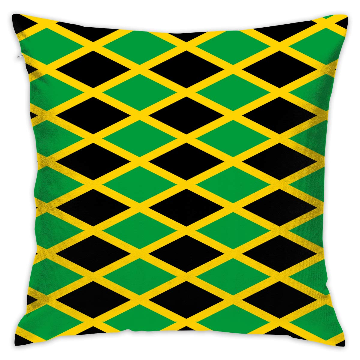 Amazon com choirfun decorative throw pillow case cushion cover 18x18 jamaica jamaican flag caribbean cotton modern square covers for couch bed sofa home