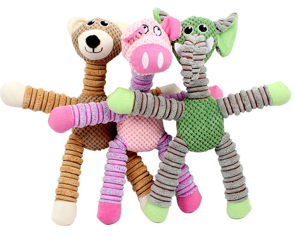 Squeaky Plush Dog Toy,Durable Stuffed Plush Dog Toys for Small,Medium and Large Dogs
