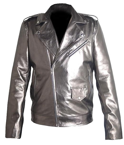 coolhides Mens Fashion Xmen Apocalypse Quick Silver Leather Jacket at Amazon Mens Clothing store: