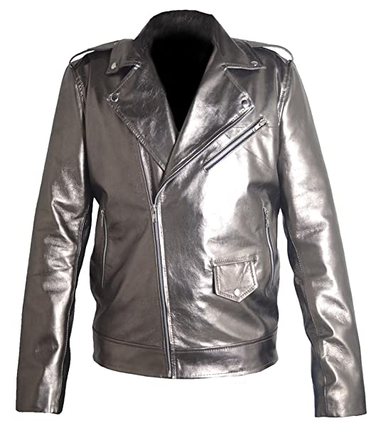 MSHC Xmen Evan Peters Quick Silver Faux Leather Jacket XXS-5XL Silver