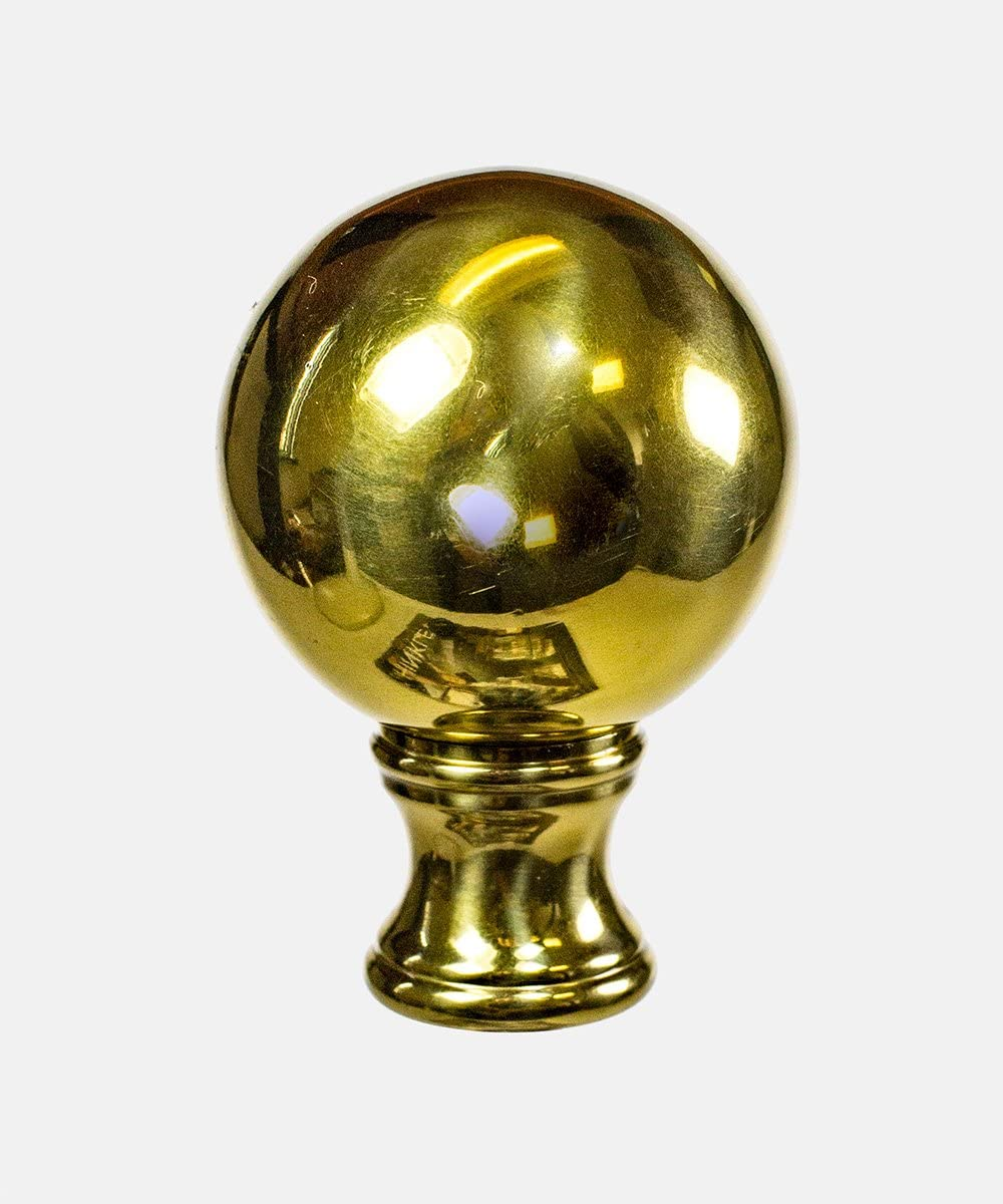 Solid Brass Ball Lamp Shade Finial