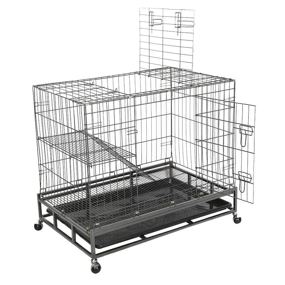 Amazon.com : Livebest Folding Pet Cage Indoor Cat Rabbit Small ...