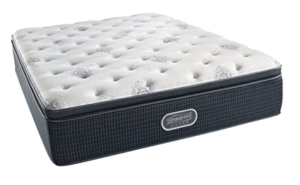 simmons beautyrest silver plush pillow top mattress air cool gel memory foam pocketed coil - Simmons Beautyrest Mattress