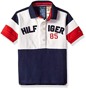 41dc441b3f406 Tommy Hilfiger Adaptive Boys  Big Polo Shirt with Magnetic Buttons