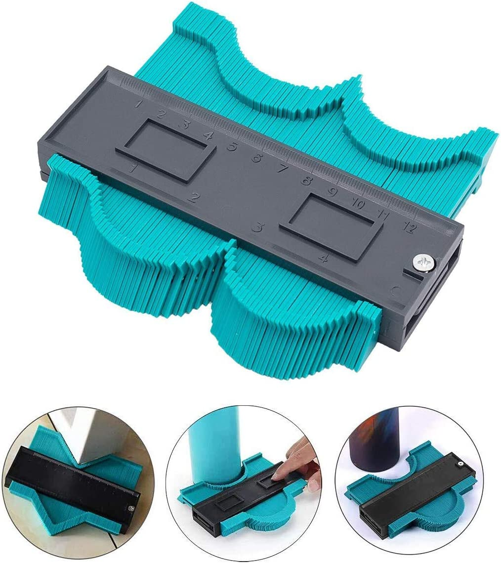 HEQUN Perfil Gauge, Medidor de Contornos,Contour Gauge Duplicator Ideal para Azulejos Edge Shaping Madera Medida & Azulejos laminados (verde) … (S): Amazon.es: Bricolaje y herramientas