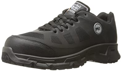 Timberland PRO Men s Velocity Alloy Safety Toe EH Industrial   Construction  Shoe Black Synthetic ... 49ab72442196