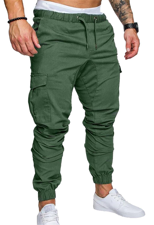 34ea1bbbec Top8: GRMO-Men Chino Cargo Pants Multi-Pockets Jogger Running Pants