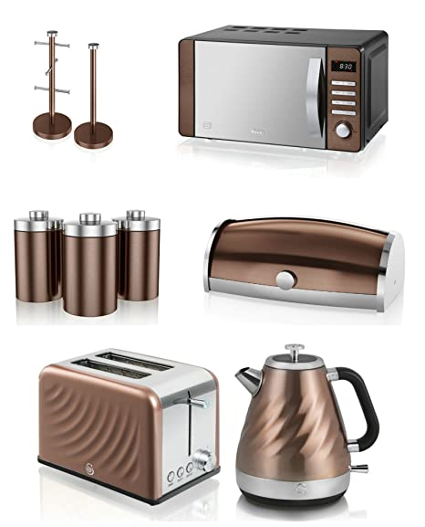 stylish modern kitchen electrical appliances accessories set swan townhouse copper microwave 16l