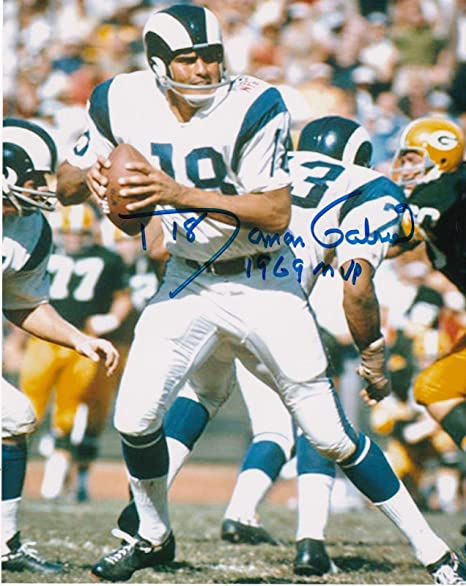 7eacb75559b Image Unavailable. Image not available for. Color: Roman Gabriel Signed  Photo - 1969 MVP ...