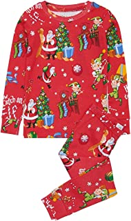 product image for Books to Bed Boys Girls Pajamas - How to Catch an Elf - Red Kids Pajamas