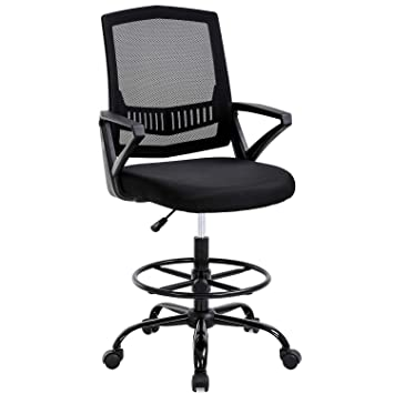 Prime Mid Back Mesh Drafting Chair Office Chair Desk Chair Adjustable Height With Lumbar Support Flip Up Arms Rolling Swivel Computer Chair For Women Men Ocoug Best Dining Table And Chair Ideas Images Ocougorg