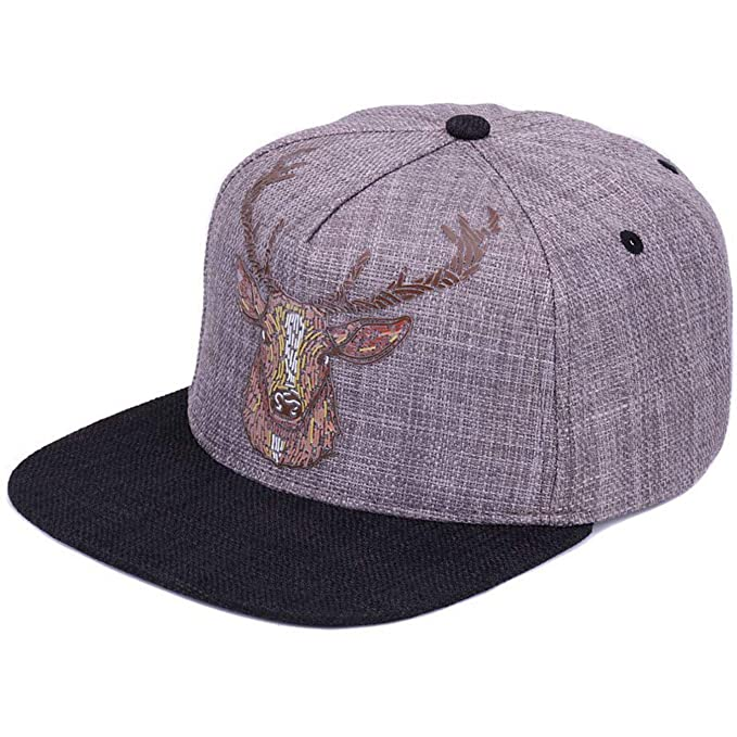28e245074e8 Image Unavailable. Image not available for. Color  Men Women Original  Quality Street Style Snapback Cap Vintage Deer Printing Baseball Caps Hip  Hop Hat