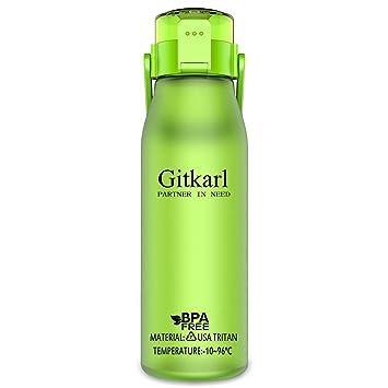 Amazon.com: Botella de agua para deportes GITKARL, 1 l y 1,5 ...