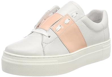 Shoe Biz Hanne, Sneakers Basses Femme, Blanc (Velvet blanc/Patent blanc), 41 EU
