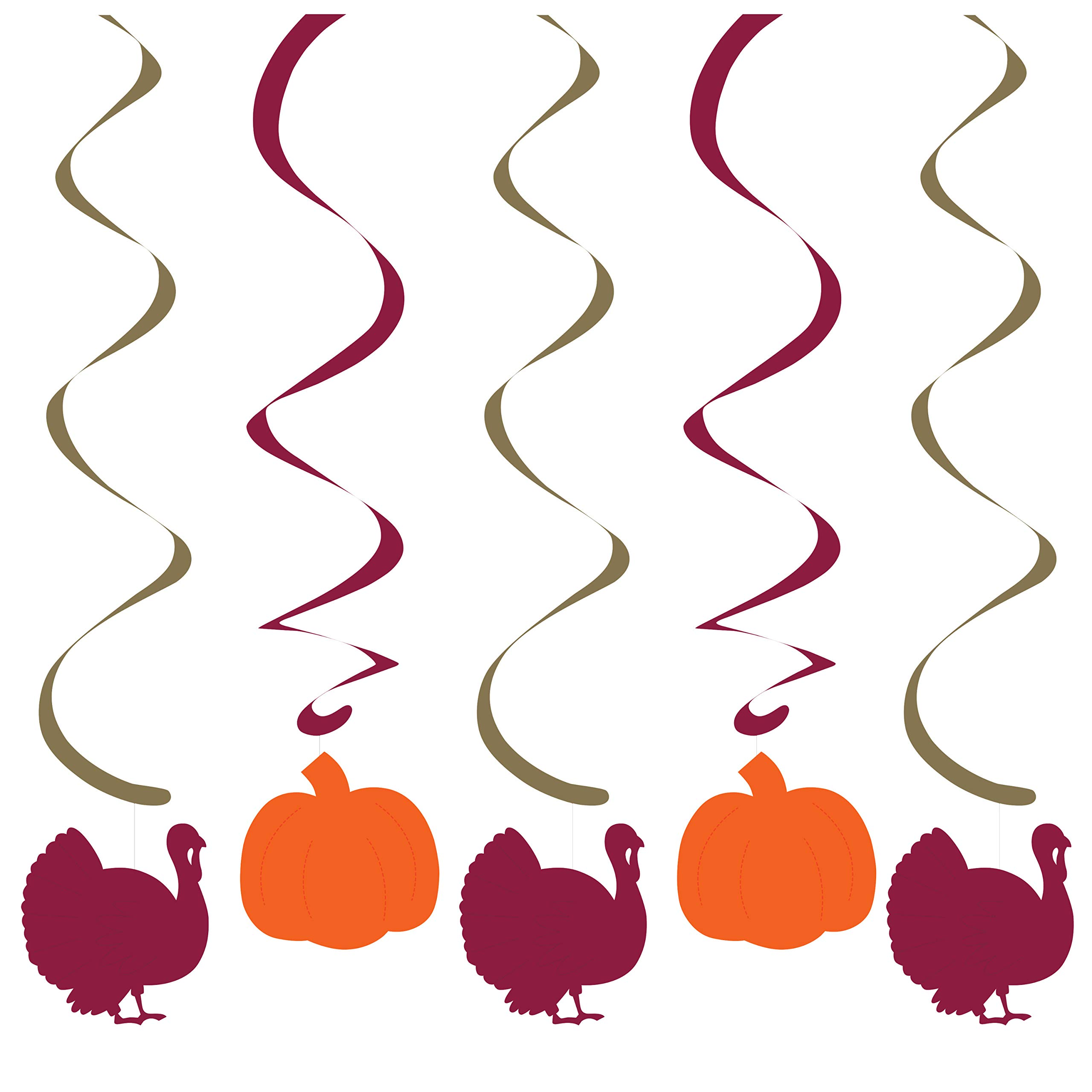 Foil Turkey and Pumpkin Dizzy Danglers, 60 ct by Creative Converting