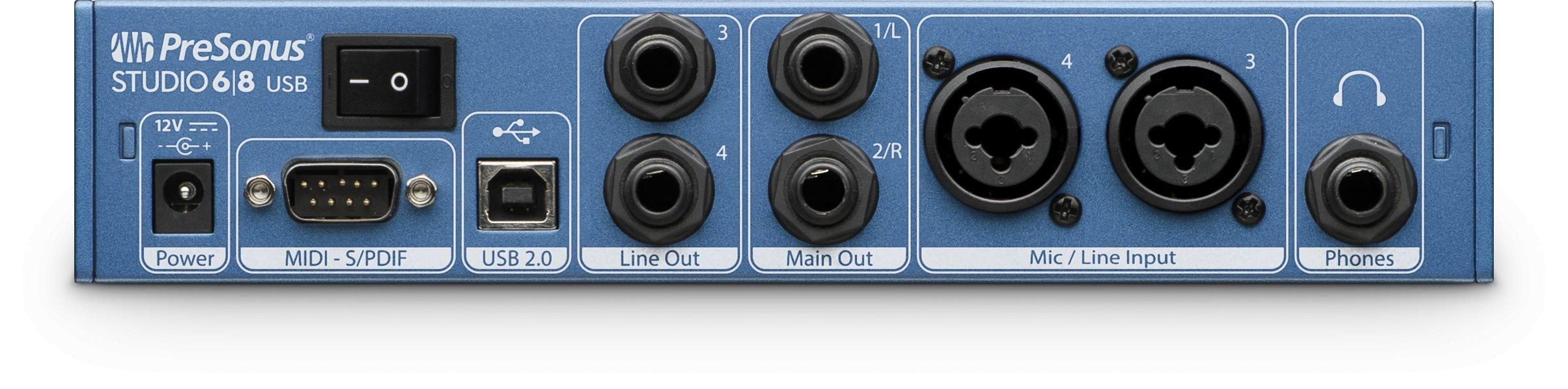 Presonus Studio 68 Audio Interface with AKG K240 Studio Headphones by PreSonus (Image #3)