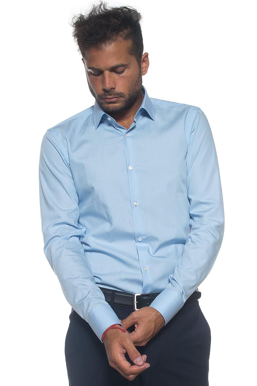 Hugo Boss Men\'s Formal Shirt Blue Blue - Blue - 40: Amazon.co.uk ...