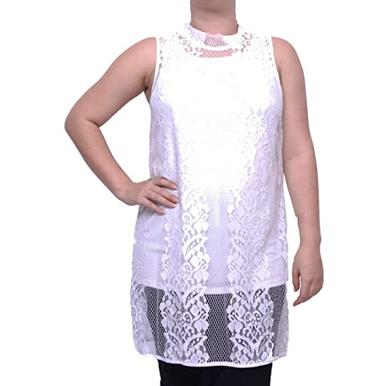 407f8f73ff8e5 Image Unavailable. Image not available for. Color  Alfani Women s Lace Mock  Neck Sleeveless Top Size S