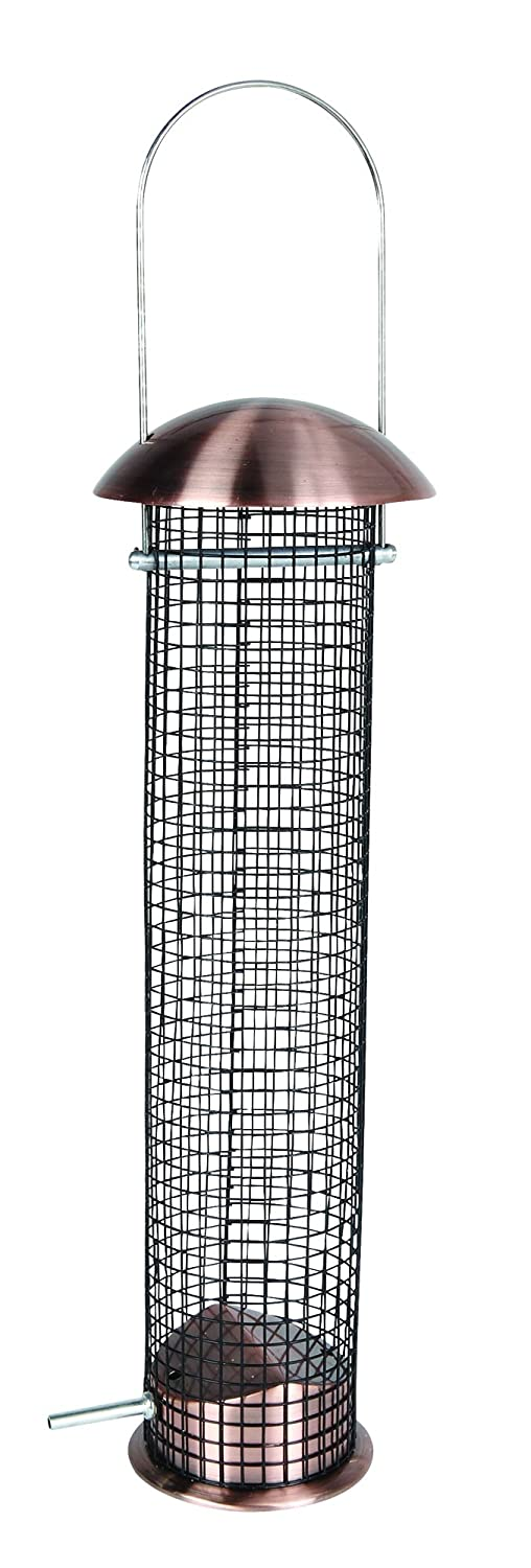 Gardman ae70002 Peanut Feeder Metal Antique Brass, Black, 7.5 x 13 x 41 cm