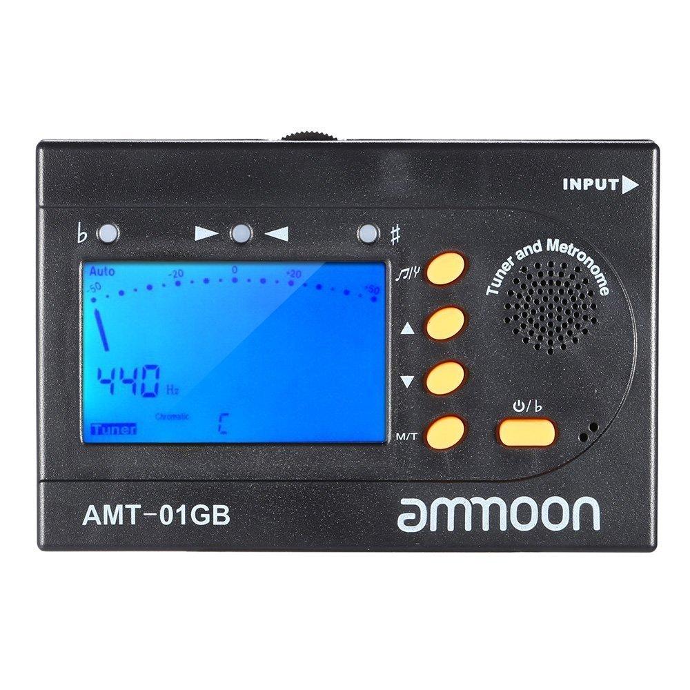 ammoon AMT-01 GB Multifonction 3 en 1 Digital Tuner + Métronome + Tone Portable Générateur Universel pour Chromatique Guitare Basse Violon