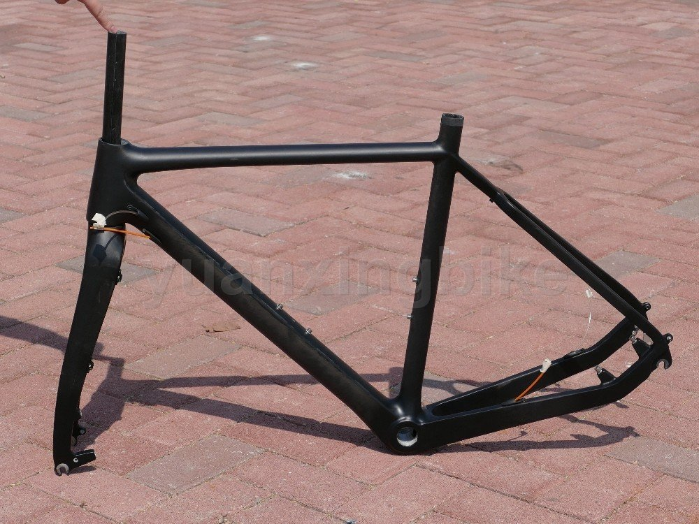 603 #東レカーボンフレームセットフルカーボン3 K光沢ロードバイクbb30フレーム55 cmフォークヘッドセット B01GHTLN5S