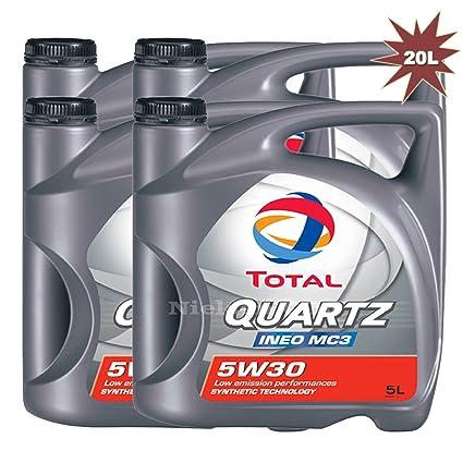 Total Quartz Ineo MC3 5 W30 aceite de motor 4 x 5 L=20 l ...