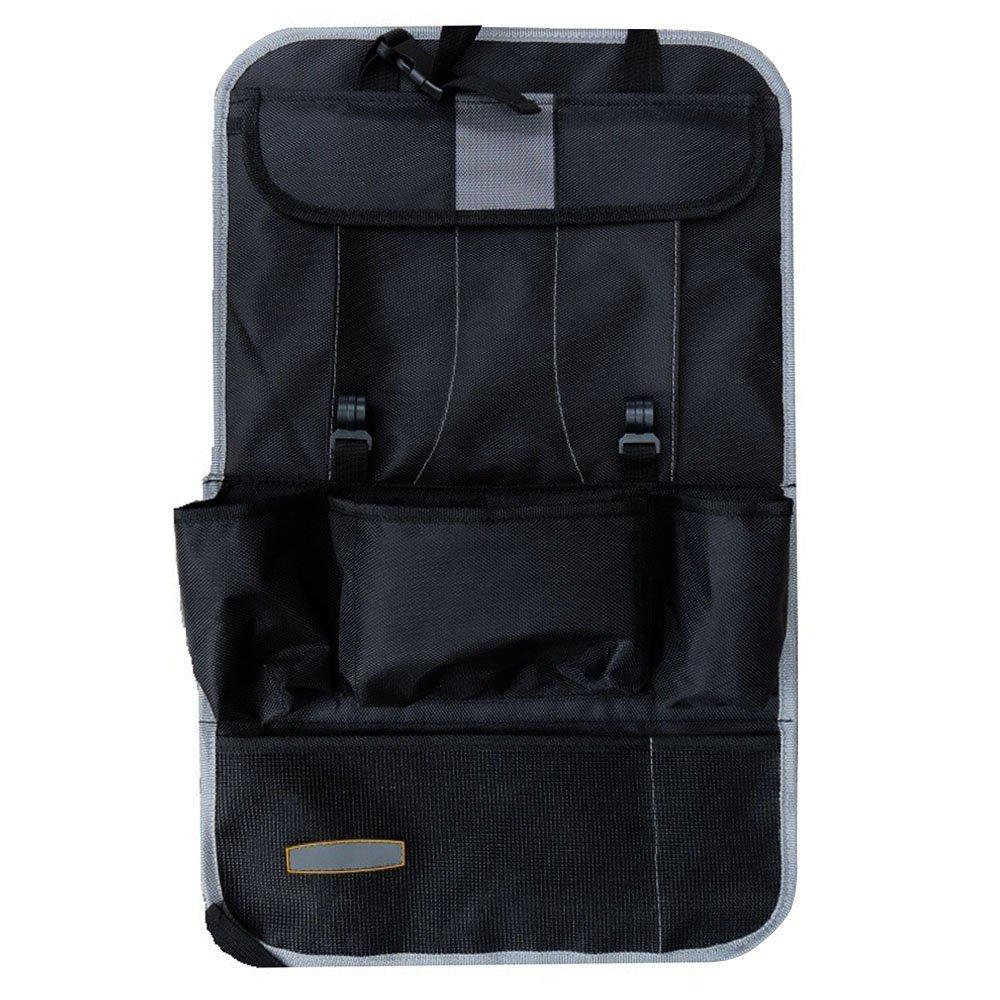 HCMAX 1 Pack Voiture Siège Arrière Organisateur Poche Backseat Protecteur Sac de Rangement Support de Tablette Kick Mat Titulaire de l'ipad Multi-poche Grand Accessoire de Voyage