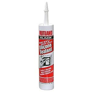 Rutland 500°RTV High Heat Silicone (Black) 10.3 Oz Cartridge