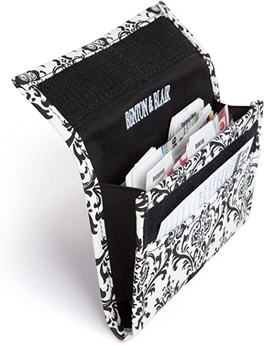 Coupon Organizer Holder Black Heavy Duty Fabric