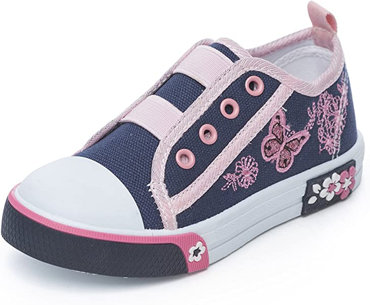 e417d5e44975 Chatterbox Girls Canvas Pump Infant Velcro Trainers Shoes Mary Jane Low Top  (4 UK Child