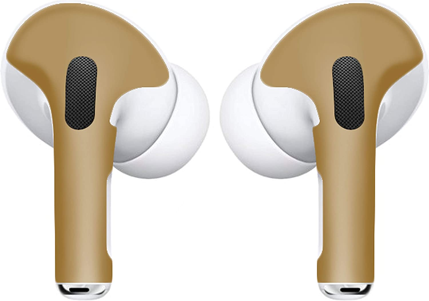 APSkin Skins for Apple AirPod Pro – Vinyl Protective Wraps Stickers Cover Earpods – Air Pods & Ear Pod Compatible Decal for Protection & Customization – Air Pod Pro Accessories – (Gold)