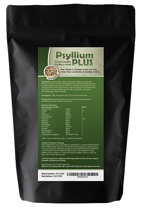 Psyllium PLUS - Finest Quality Psyllium Husk Plus: Alfalfa, Aloe Vera, Green Tea