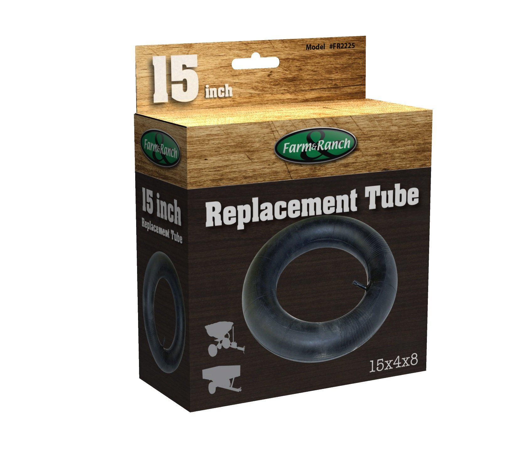 Tricam Farm and Ranch FR2225 Replacement Tire Tube for Wheelbarrows and Utility Carts, 15-Inch
